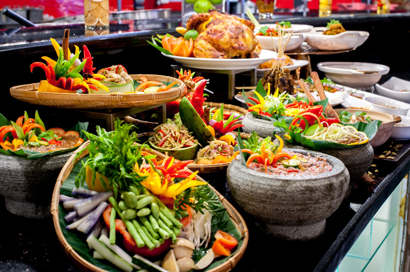 Large varieties of kampung dishes will be served.