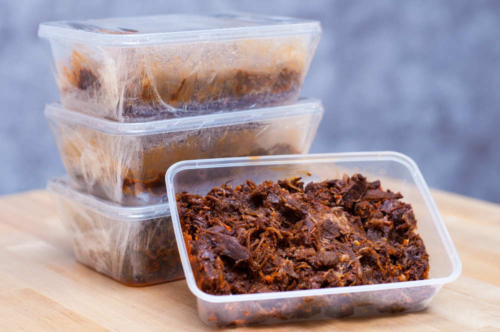 Daging Dendeng also sold frozen in containers