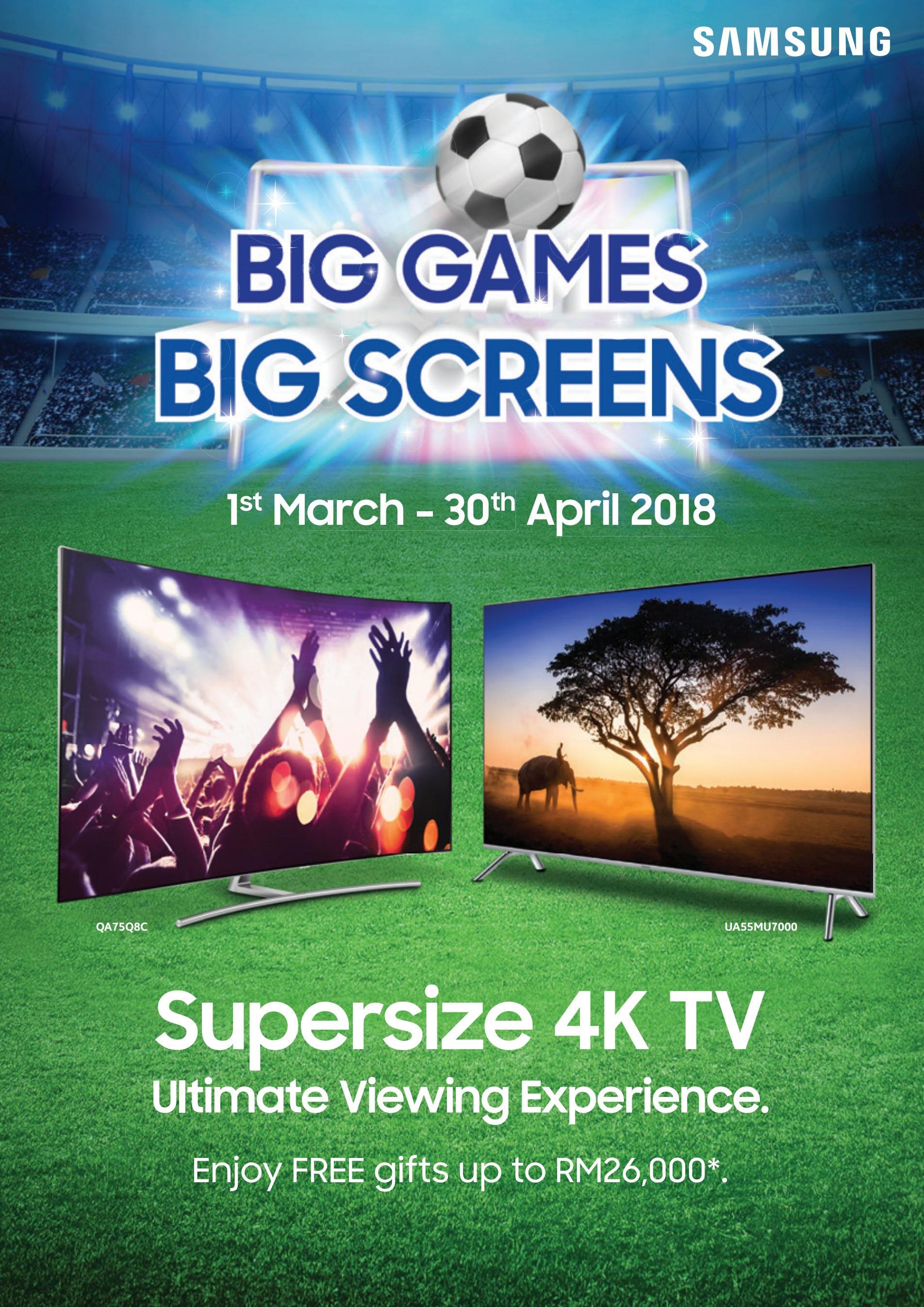 Big Games, Big Screens campaign