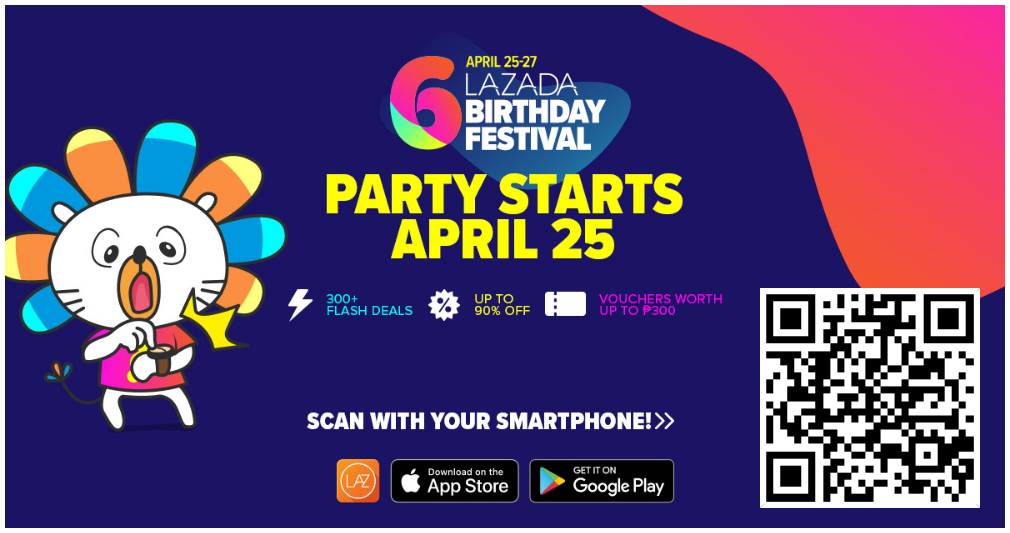Lazada Shakin' Deals - Shop, Shake and Win on 6th Birthday Festival Sale