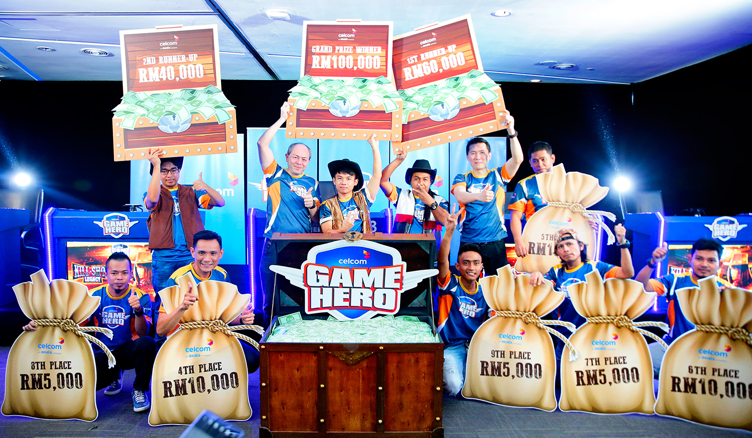 Celcom Game Hero Tournament - Kill Shot Legacy Winners