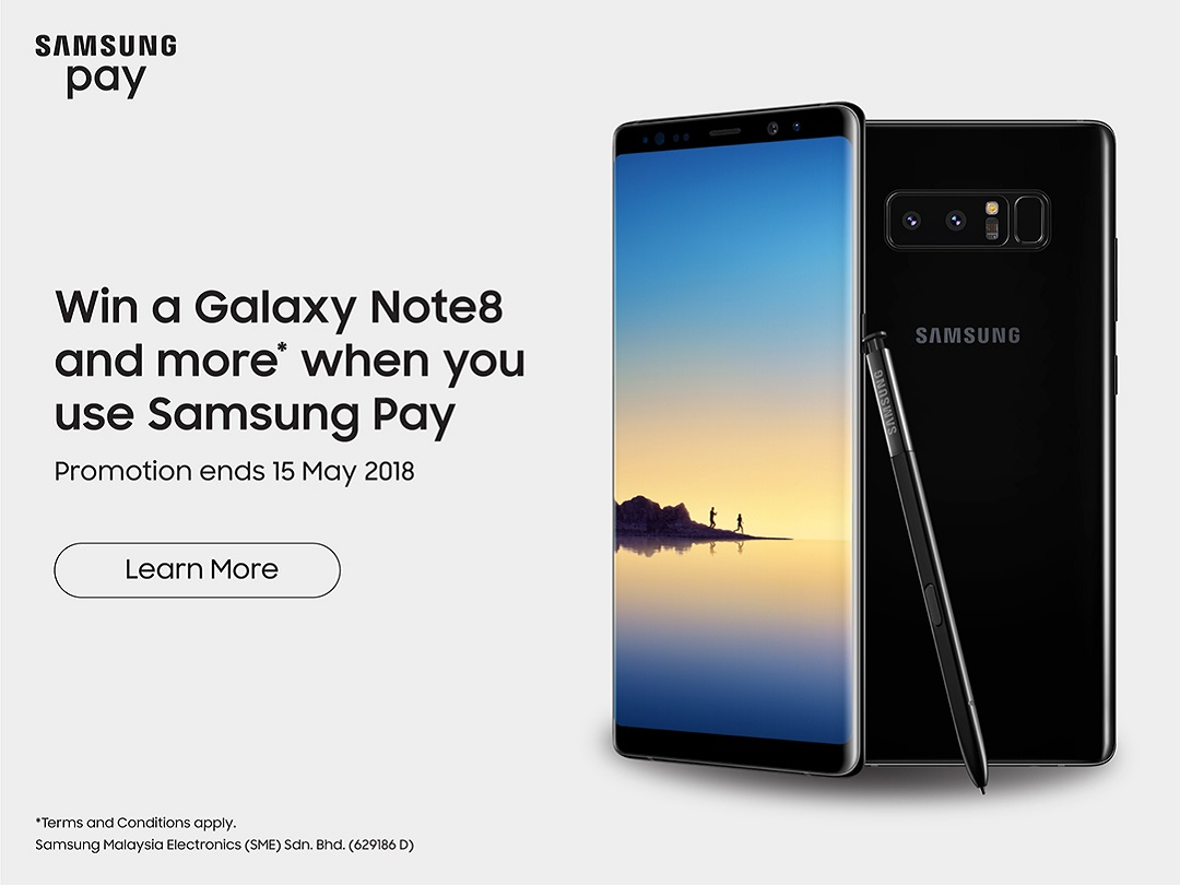 How To Win Yourself A Brand New Galaxy Note 8 with Samsung Pay