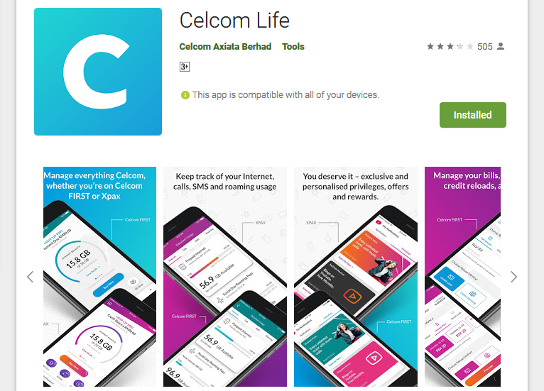 No More Xpax App, We Now Welcome Celcom Life