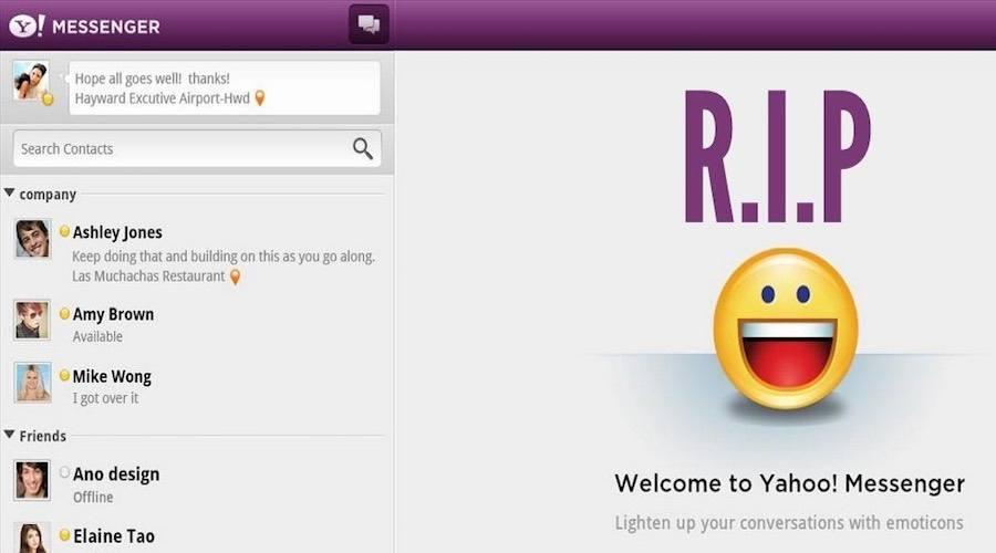RIP Yahoo Messenger, The Legendary IM Service is Shutting Down