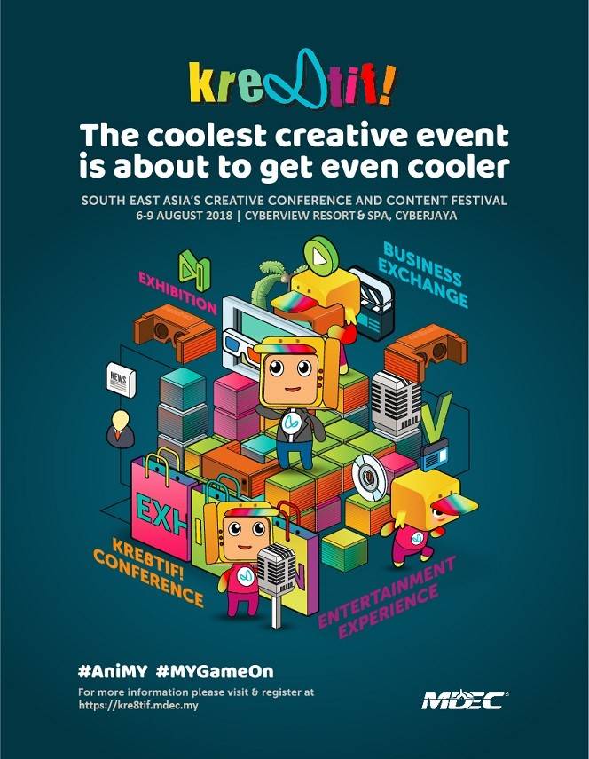 August is set to be a happening month in Cyberjaya with the return of MDEC's Kre8tif! Conference and Creative Festival!
