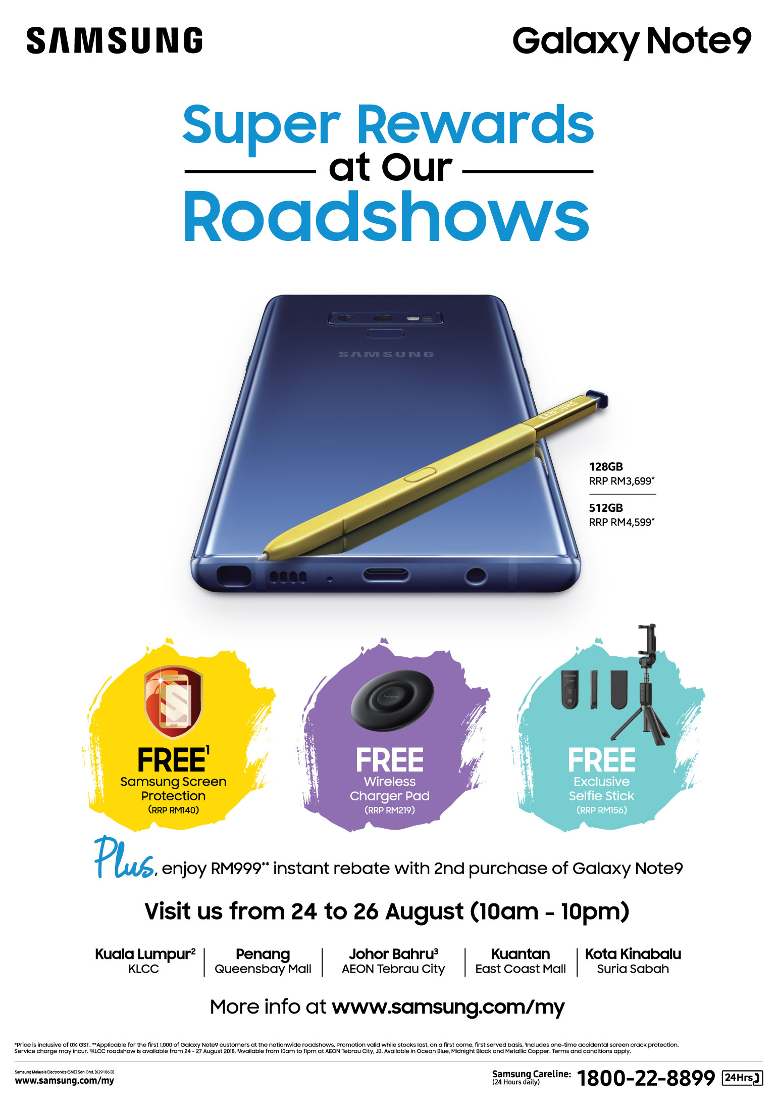 Samsung Galaxy Note9 and S Pen Roadshow