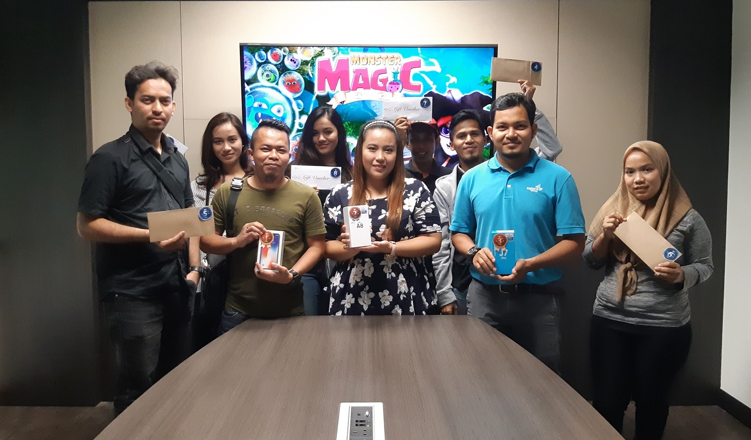 Mobile Game 'Monster Magic' Winners