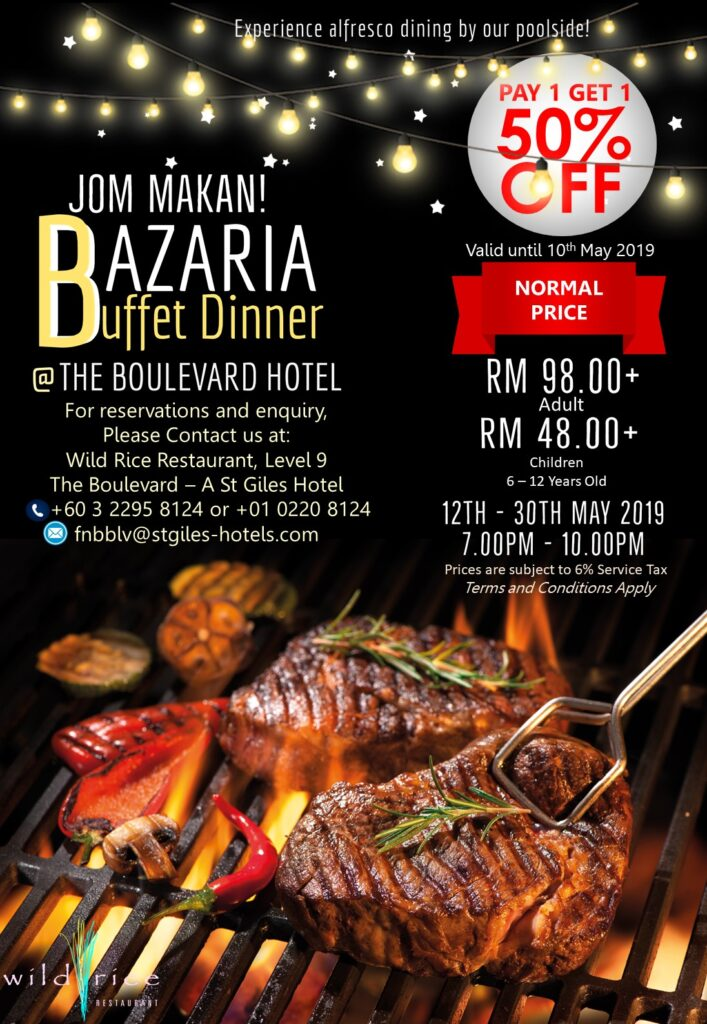 Enjoy Poolside Alfresco Dining at Bazaria Ramadhan Buffet Dinner