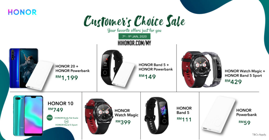 HONOR Kicks Off 2020 with the Customer's Choice Sale