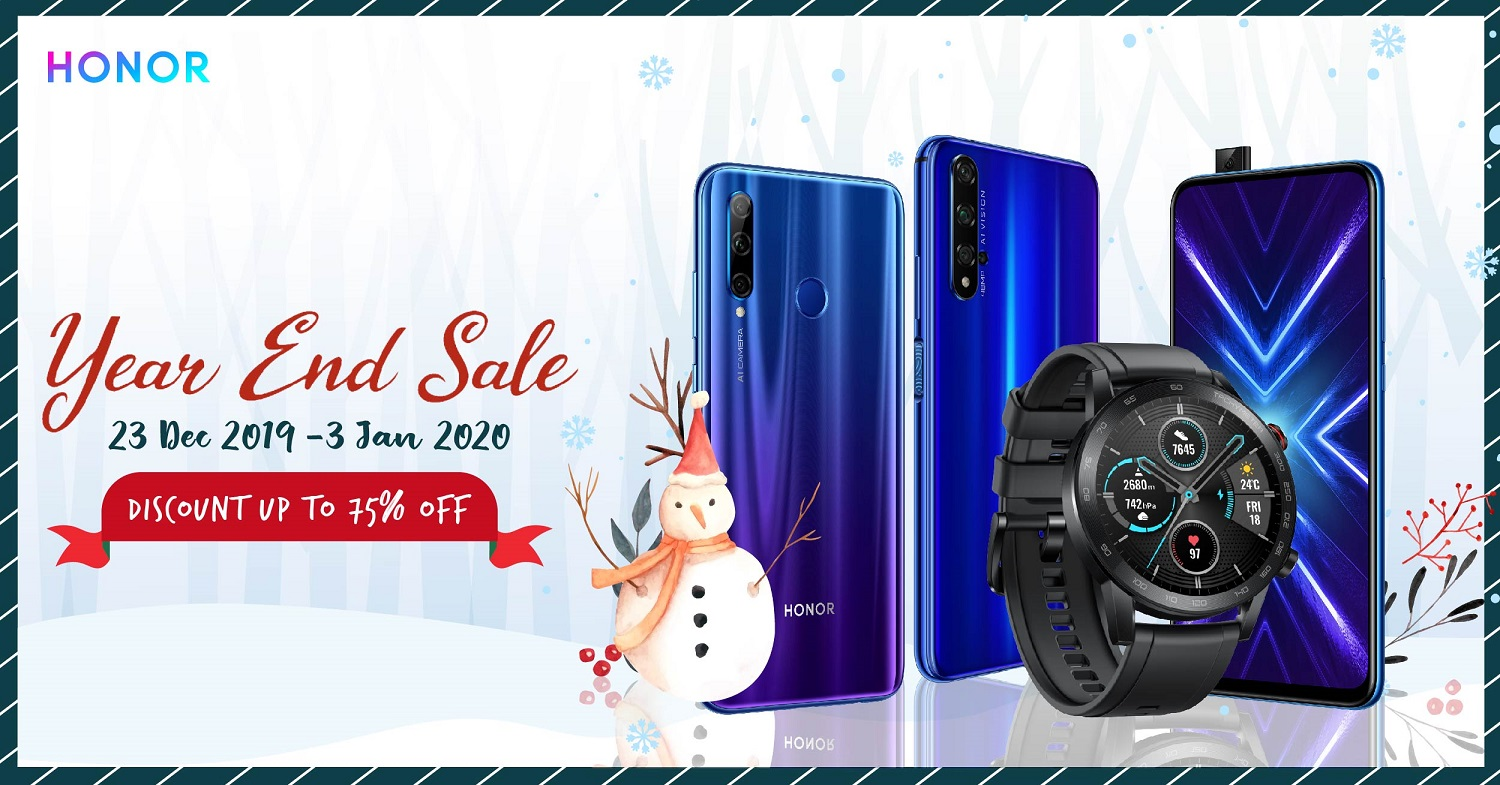 HONOR is Counting down to The New Year with Discounts up to 75% off