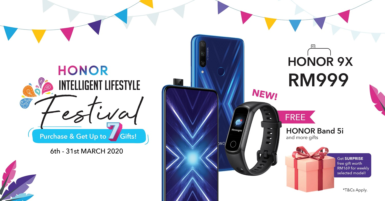 HONOR Malaysia Welcomes its Intelligent Lifestyle Ecosystem with Deals and Freebies