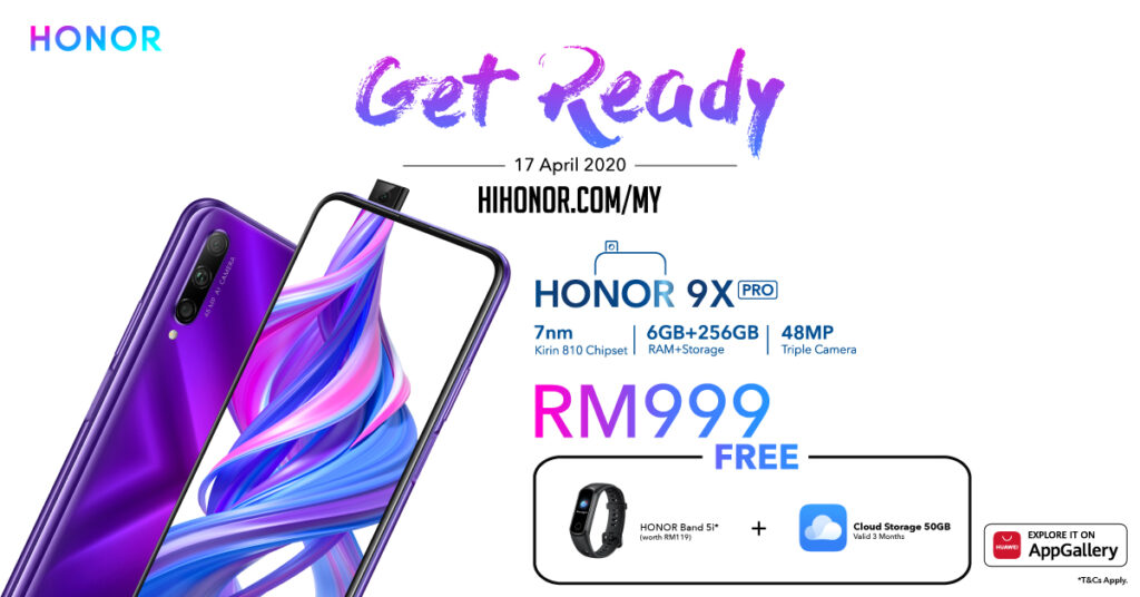 HONOR 9X Pro Start Sale Moves Online this 17 April