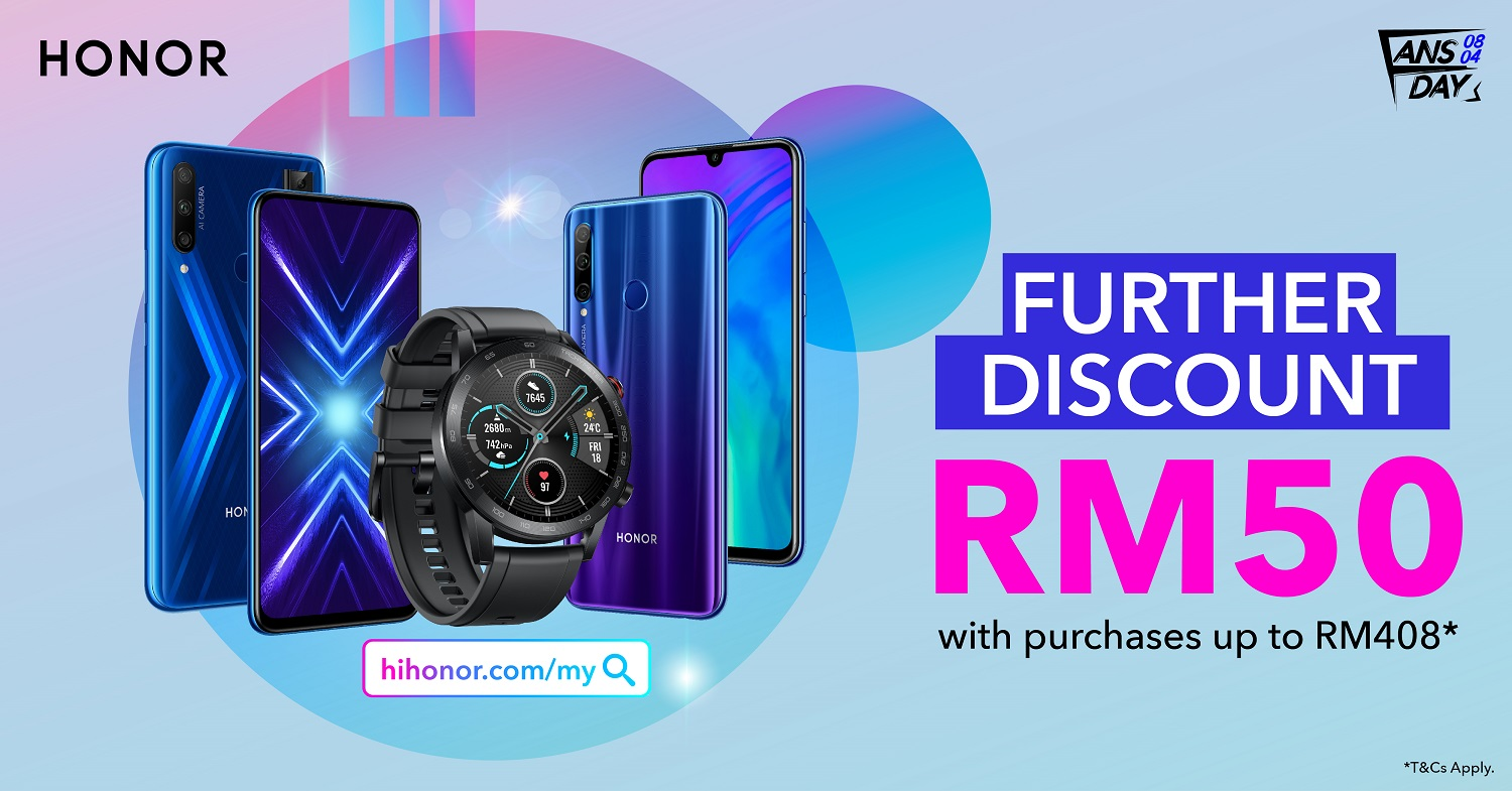 HONOR Fansgiving 2020: Exclusive Deals as Low as RM48 Everyday