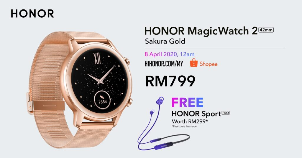 HONOR Malaysia Launches Intelligent Lifestyle Products with HONOR 9X Pro, HONOR MagicBook and HONOR MagicWatch 2 Sakura Gold