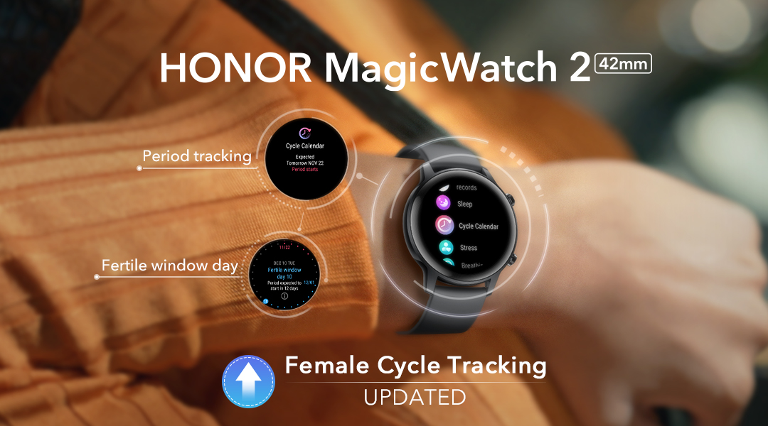 The HONOR MagicWatch 2 is Coming in a New Feminine Variant -Sakura Gold