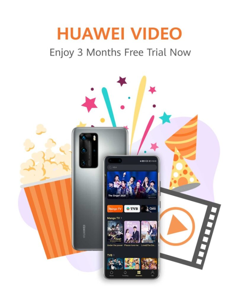 HUAWEI Video Offers 3 Months Free Premium Subscription To HUAWEI P40 Series And Matepad Pro Users