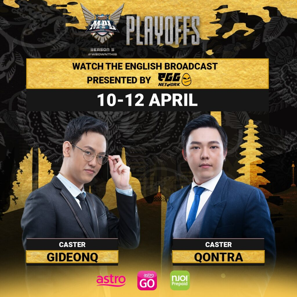 Official English broadcast of Indonesia's Mobile Legends: Bang Bang Professional League Season 5 Playoffs coming to esports fans in Malaysia