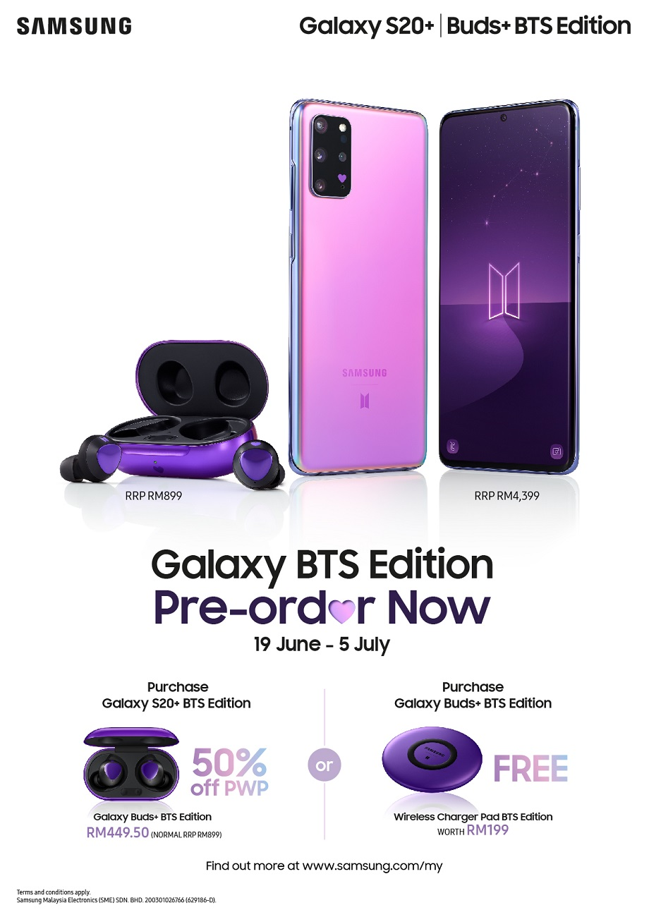 I Purple You: Introducing Samsung Galaxy S20+ and Galaxy Buds+ BTS Editions