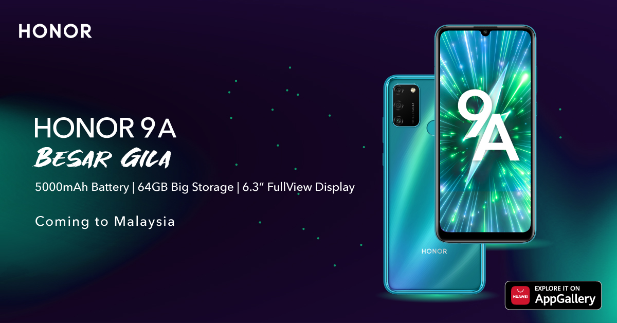 HONOR 9A Confirmed Arrival in Malaysia