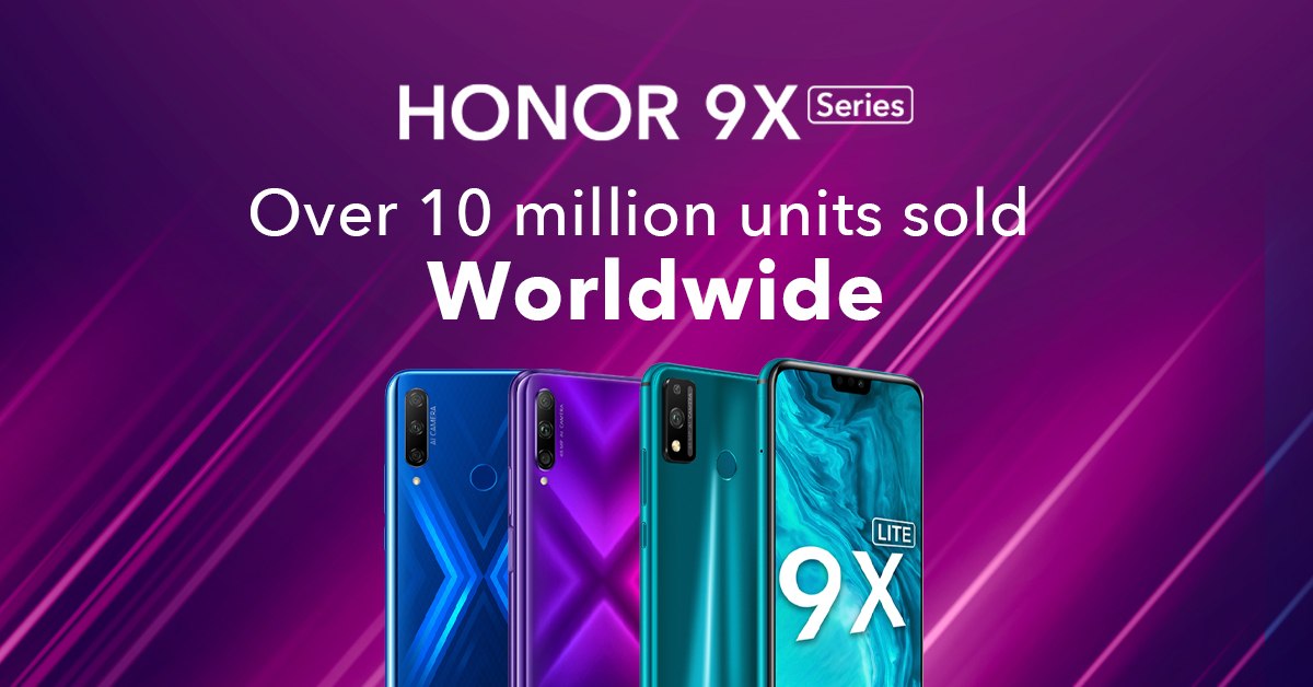 HONOR 9X Series Surpasses 10 Million Units Shipment Globally