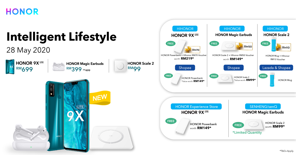 HONOR Malaysia Launches New Intelligent Lifestyle Products