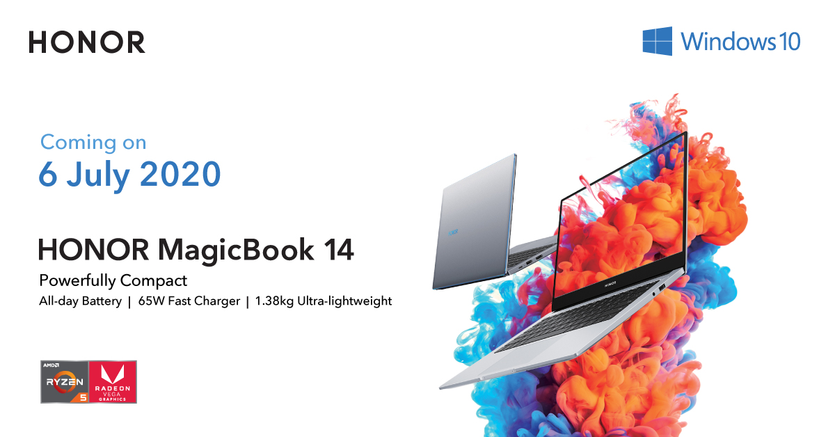Powerfully Compact: The HONOR MagicBook 14 Coming on 6 July