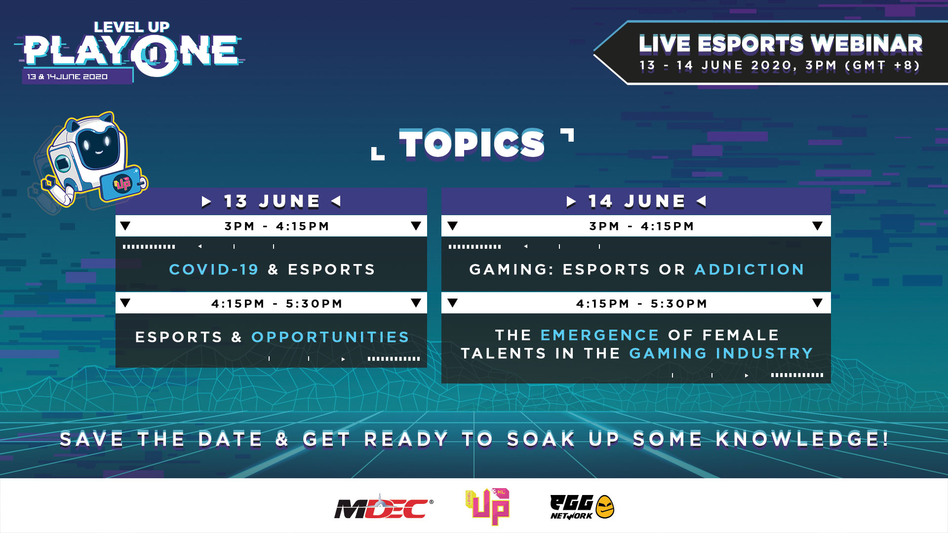 Malaysia's Online Gaming Conference and Festival – LEVEL UP SPACEBAR and PLAY-ONE
