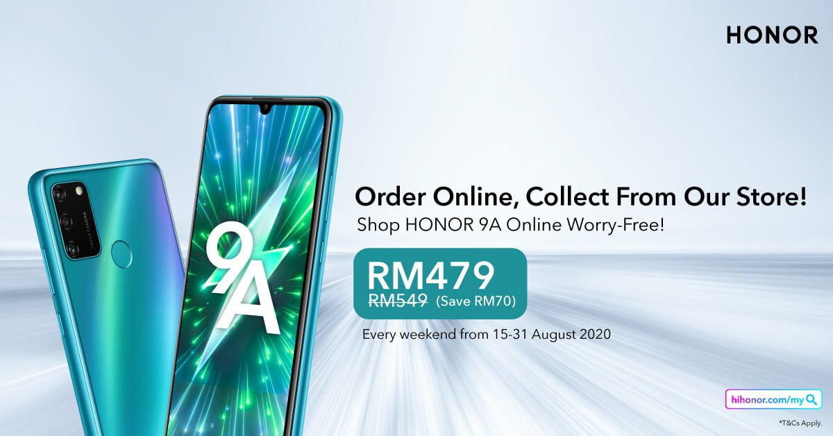 HONOR 9A Now at RM479 for a Limited Time Only