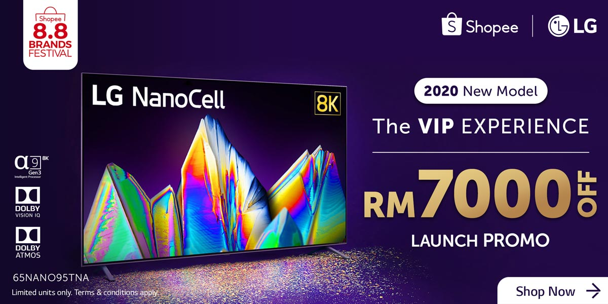 LG Electronics and Shopee Celebrates 8.8 with Amazing Deals on LG NanoCell TV
