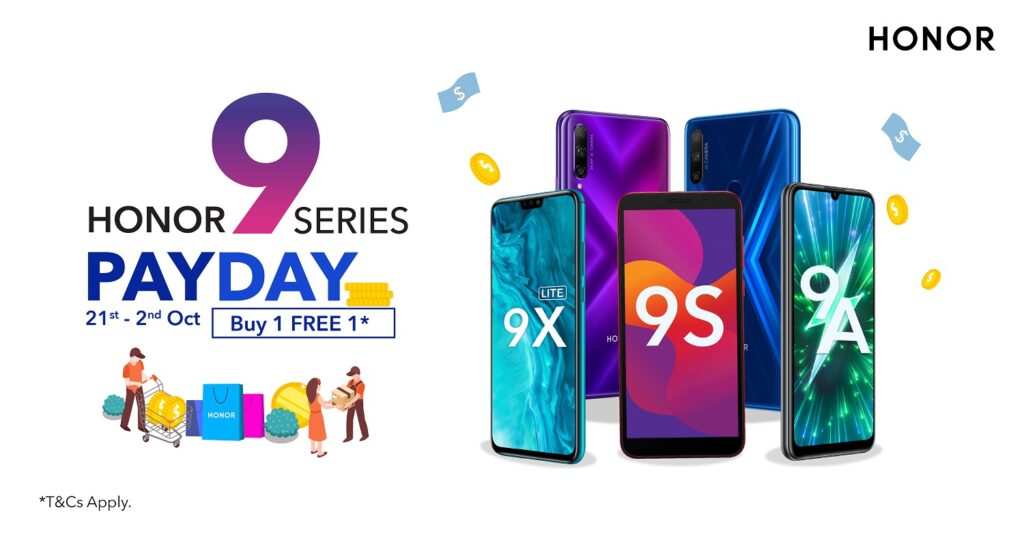 September Just Got Better with the HONOR 9 Series Pay Day Sale!