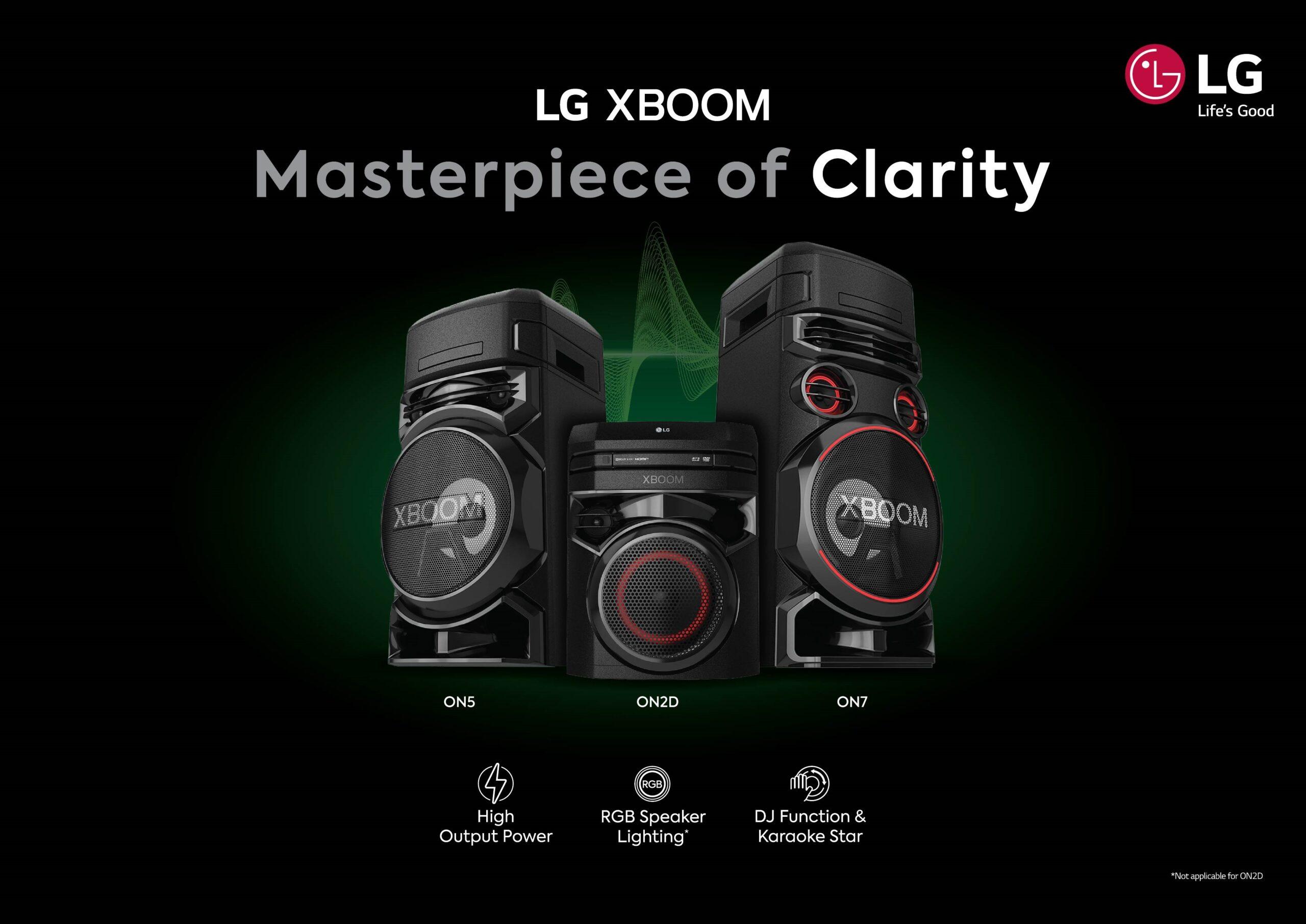 LG XBOOM ON