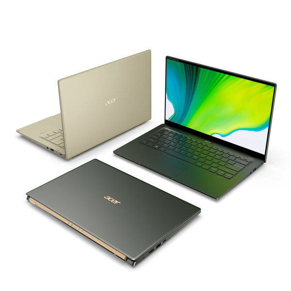 Acer Swift 5 (SF514-55) powered by 11th Gen Intel Core processors and verified as an Intel Evo platform notebook
