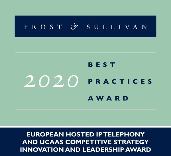 Telefonica awarded the 2020 European Competitive Strategy Innovation and Leadership Award for Hosted IP Telephony and UCaaS by Frost and Sullivan