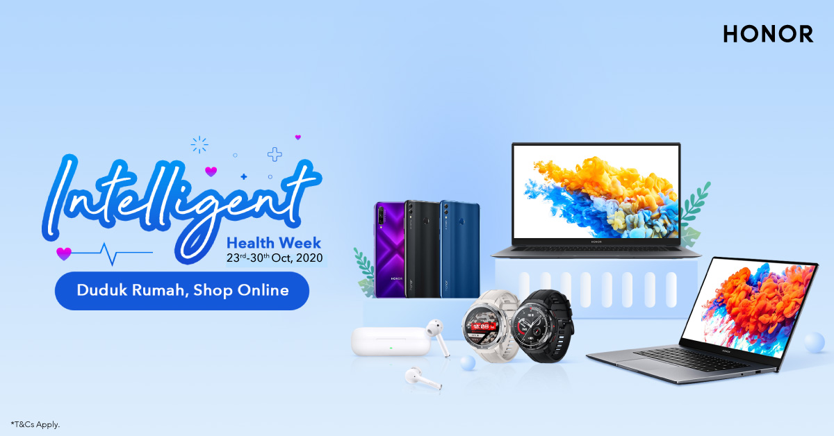 Stay Put and Shop Online During HONOR's Intelligent Health Week Sale!