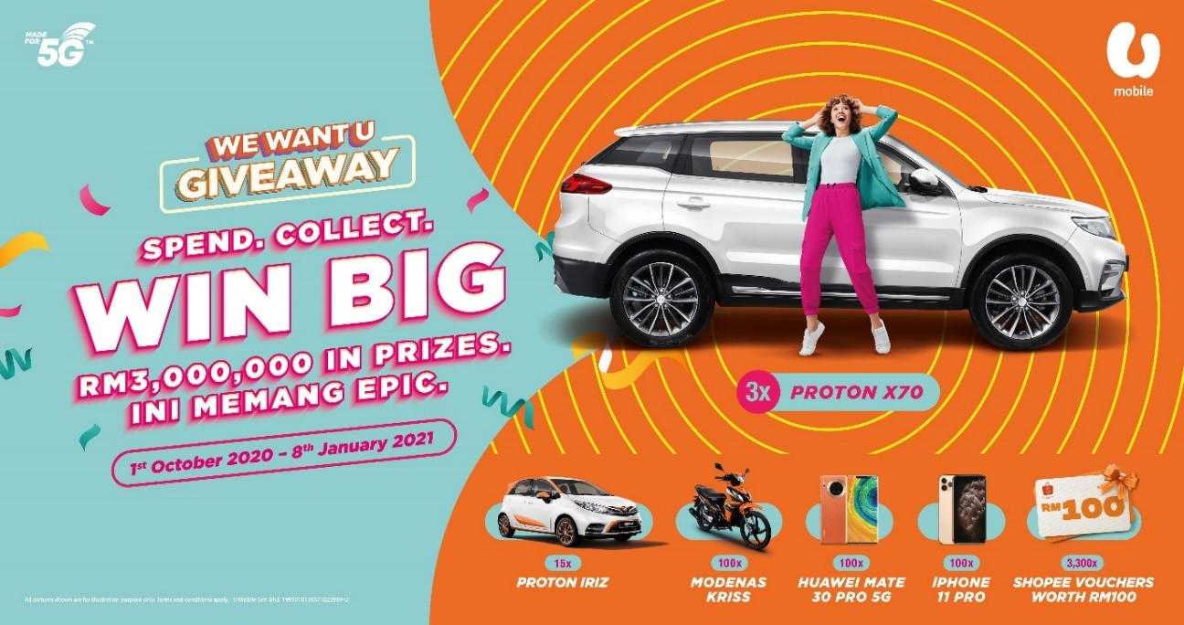 U Mobile Customer Wins Big in First Week of We Want U Giveaway Campaign