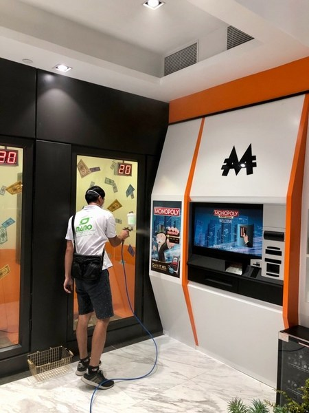 MONOPOLY DREAMSTM Hong Kong deploys a high-tech nanometer level microbial-contact-killing technology Japan Nano Super Protect Catalytic Coating as the venue's 24-hour interior and exterior sterilization solution.