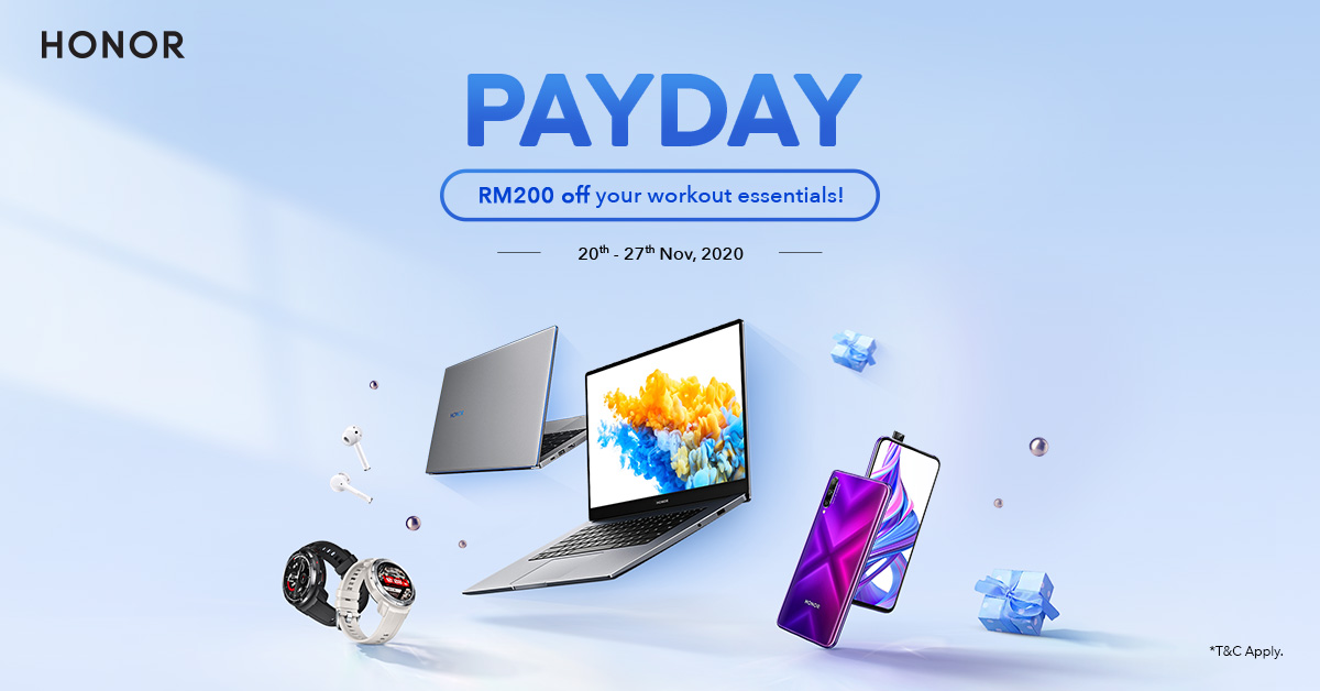 RM200 off HONOR Accessories with the HONOR November Pay Day Sale!