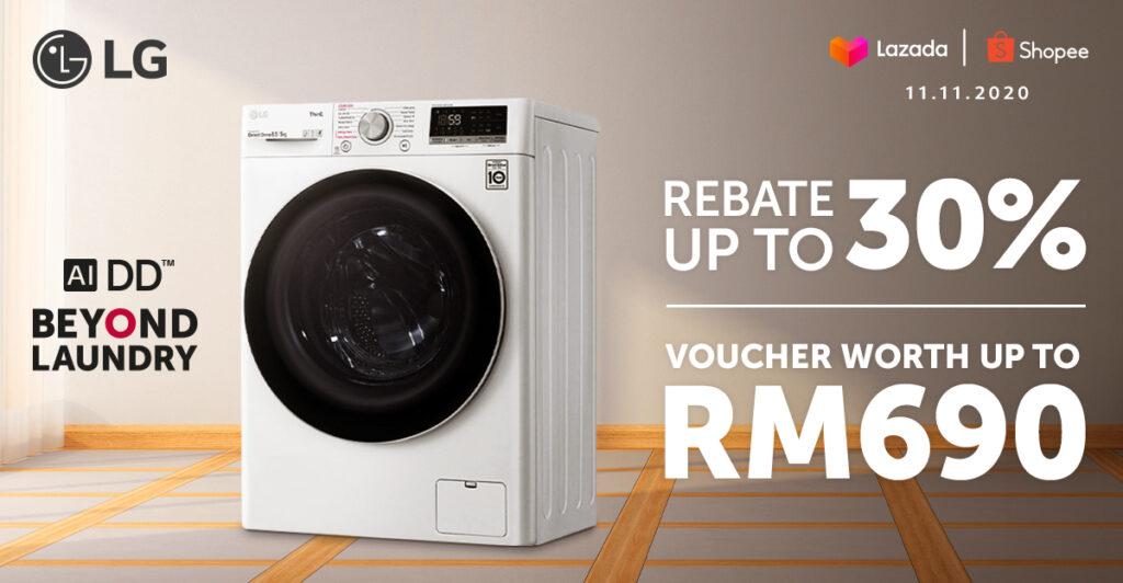 LG Celebrates 11.11 With Remarkable Deals On LG AI DD Washing Machine