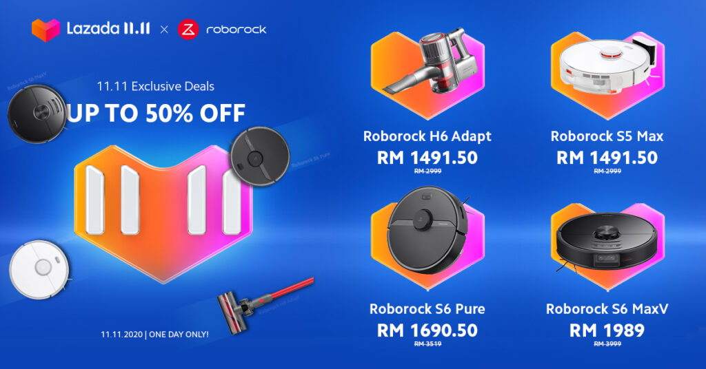 Roborock Offers up to Over RM2,000 Discount for 11.11