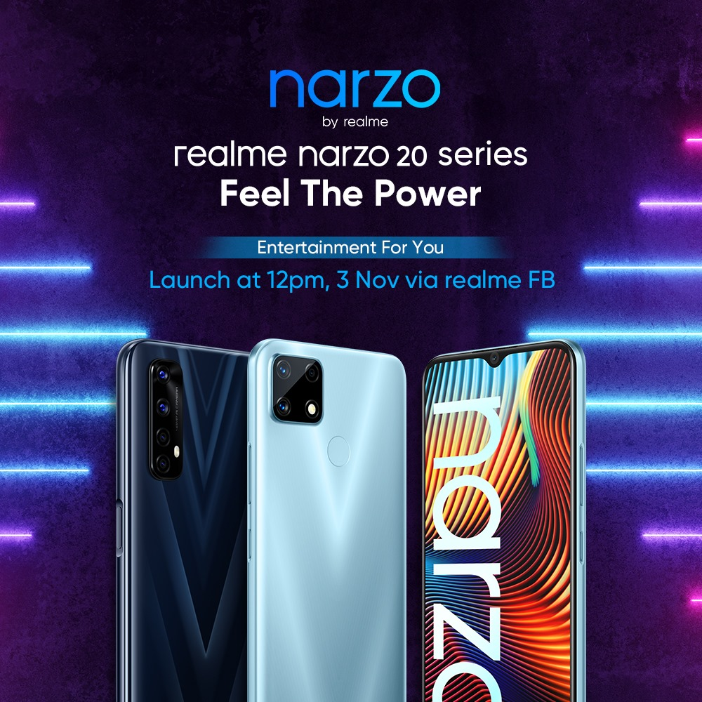 Official Launch of realme narzo 20 Series Happening Today