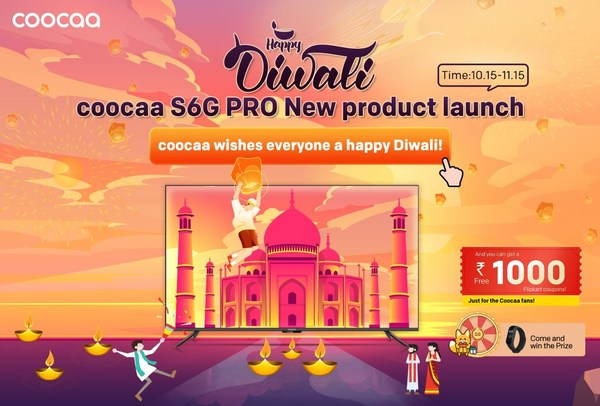 coocaa Kicks Off Diwali with Official S6G Pro Launch in India and Flipkart Vouchers for coocaa Subscribers