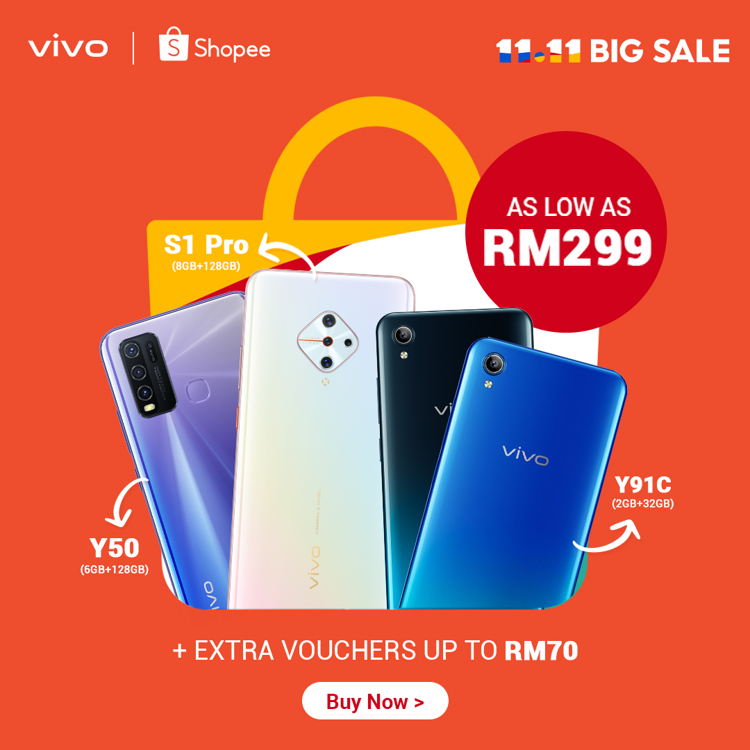 Exclusive vivo Smartphone Deals will be Available on Shopee 11.11 Big Sale