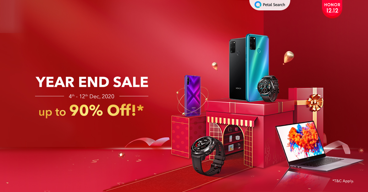 HONOR Malaysia offers up to 90% off for 12.12