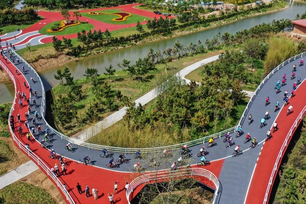 Green Lane near the Sunshine Coast in Rizhao declared a national boutique tourist project