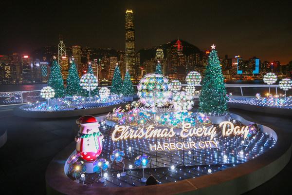 """Harbour City, Hong Kong transforms """" Ocean Terminal Deck"""" into a """"Christmas Lighting Garden"""""""