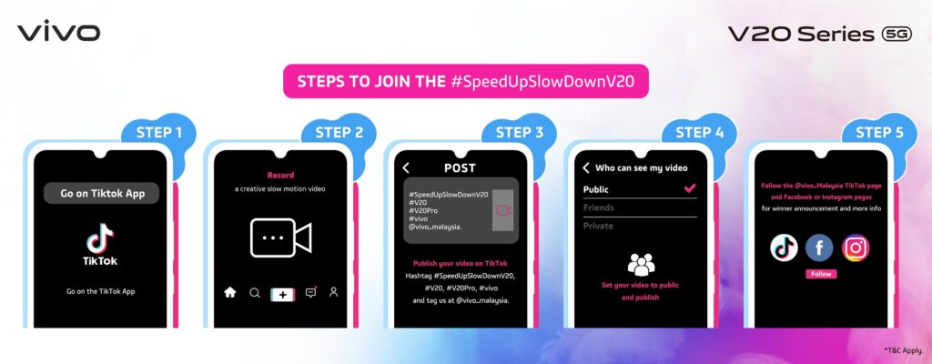 #SpeedUpSlowDownV20 Together with vivo Stars this December