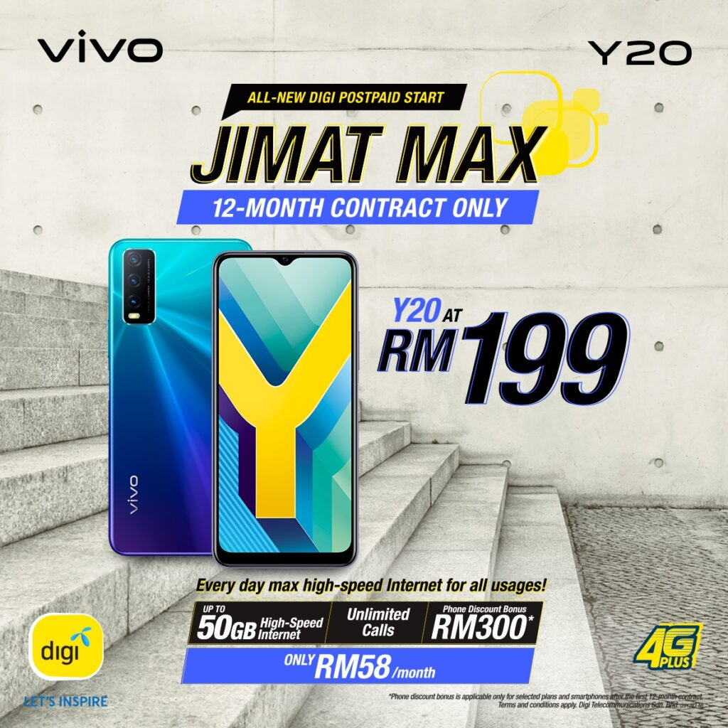vivo Y20 Is Now Available as Low as RM 199 at All DiGi Stores