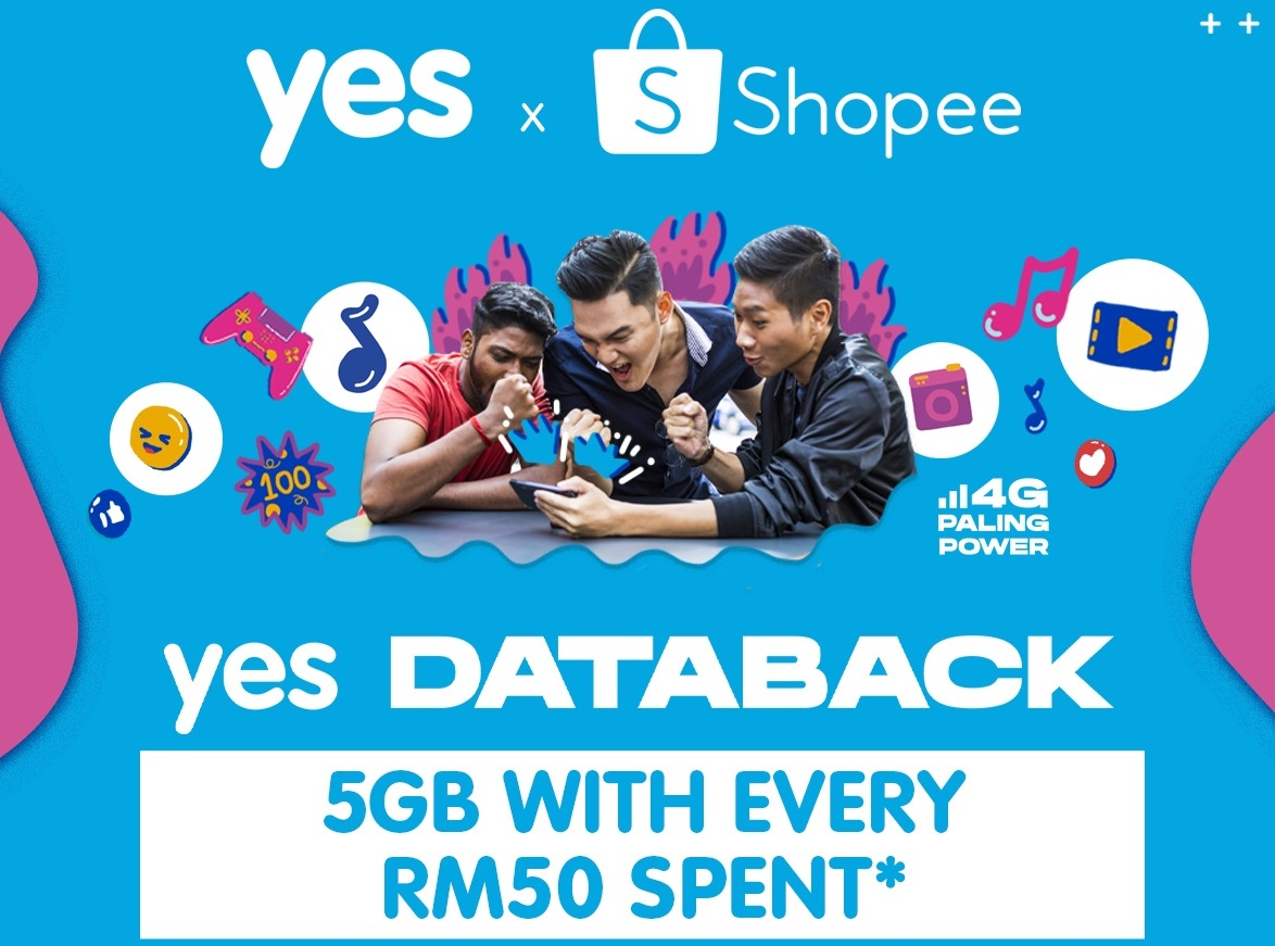 YES Databack Rewards Shopee Customers With Free Data