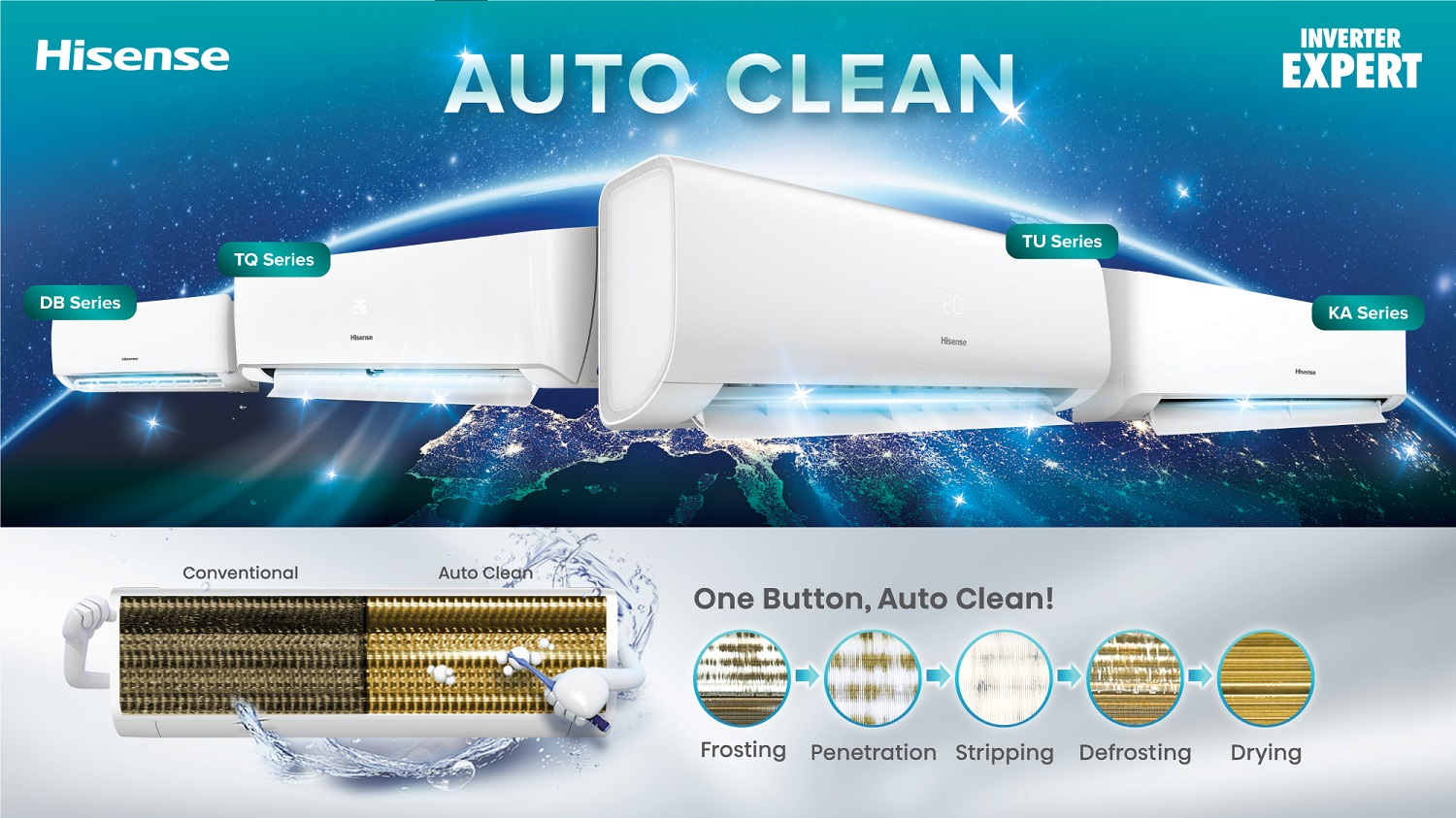 Enjoy Clean Air With Hisense's Air Conditioner By Pressing One Button