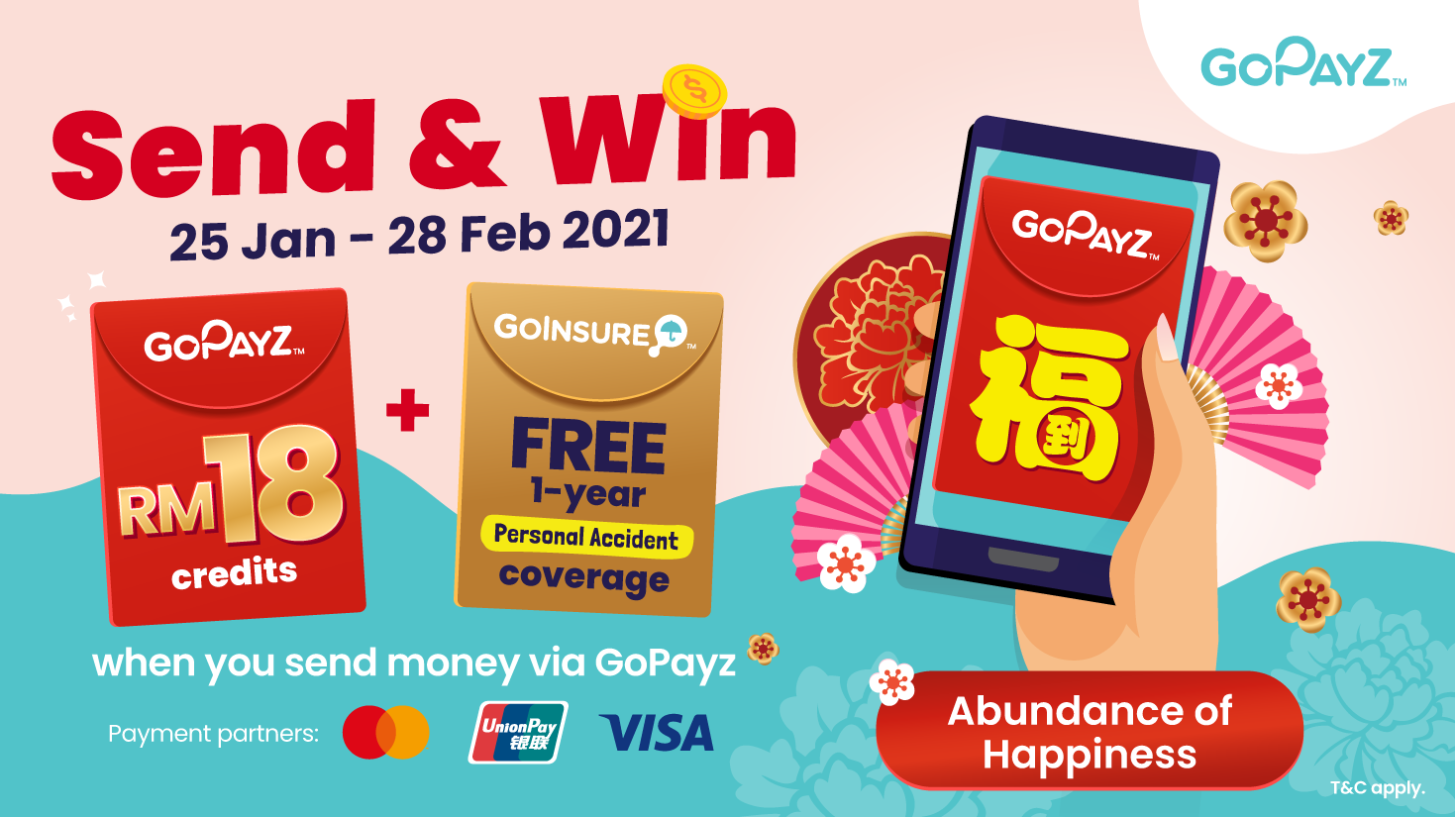 GoPayz Users - Stand a Chance to Win Year-Long Insurance Coverage and GoPayz Credit